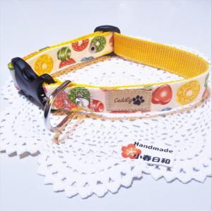 ドロップキャンディ柄のカラフルな首輪(小型~小さめの中型犬用) リード・首輪 小春日和_1