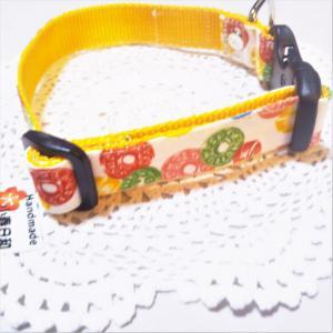 ドロップキャンディ柄のカラフルな首輪(小型~小さめの中型犬用) リード・首輪 小春日和_3
