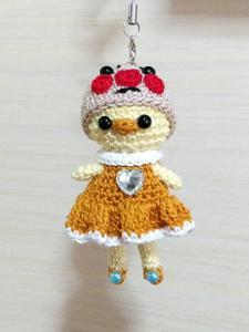○○マン帽子フリルワンピース☆ひよちゃんあみぐるみストラップ_1