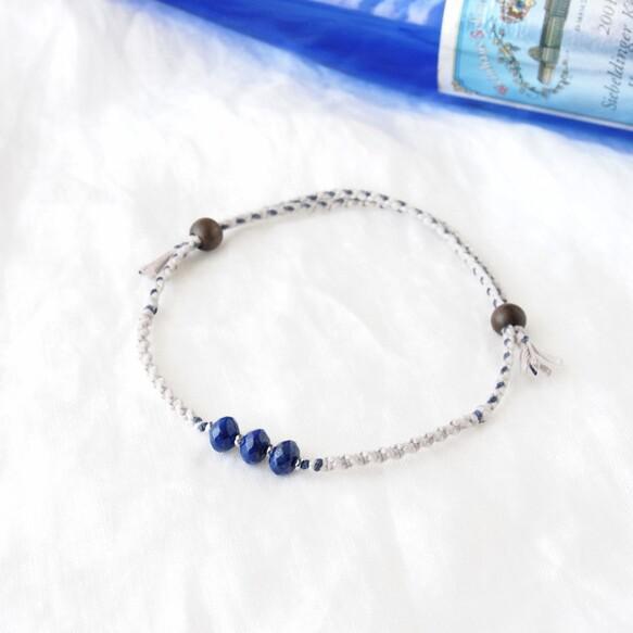 【ペット用】Blue Line Necklace(ラピスラズリ) ペット服・アクセサリー Amagris_1