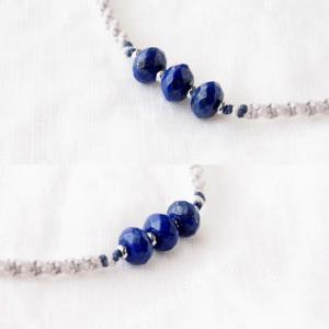 【ペット用】Blue Line Necklace(ラピスラズリ) ペット服・アクセサリー Amagris_2