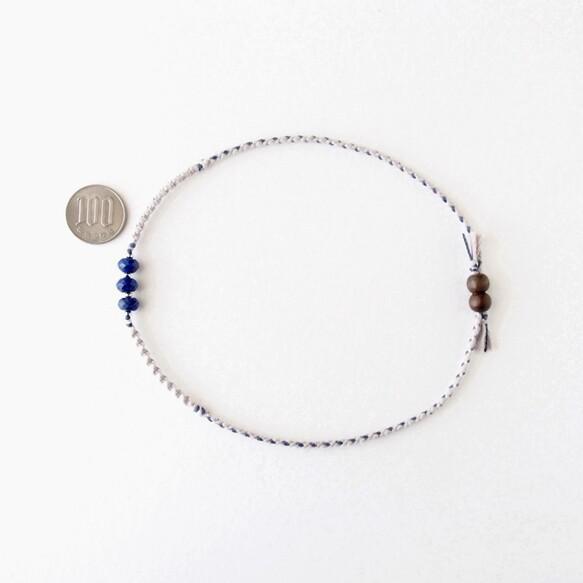 【ペット用】Blue Line Necklace(ラピスラズリ) ペット服・アクセサリー Amagris_5