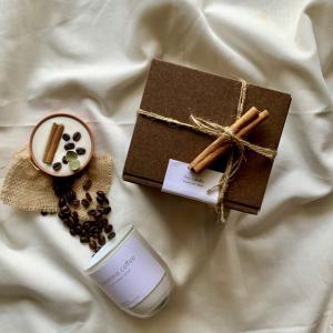"""coffee &cinnamonstick""🌿ホワイトグラス🕯_2"