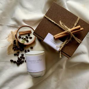 """coffee &cinnamonstick""🌿ホワイトグラス🕯_3"