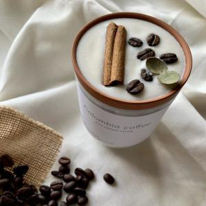 """coffee &cinnamonstick""🌿ホワイトグラス🕯_4"