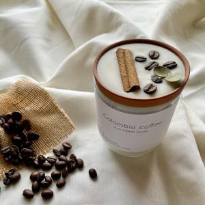 """coffee &cinnamonstick""🌿ホワイトグラス🕯_5"