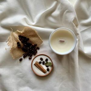 """coffee &cinnamonstick""🌿ホワイトグラス🕯_6"