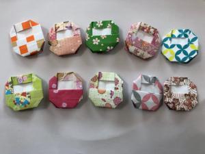 ハンドメイド 折り紙 だるま 10個 壁面飾り_1