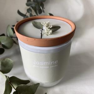 ホワイトグラスキャンドル Jasmin_2