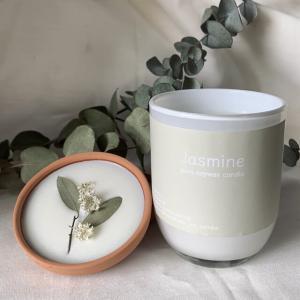 ホワイトグラスキャンドル Jasmin_6