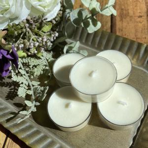 ホワイトムスクの香り 100%植物性ソイキャンドル    ティーライトキャンドル 5個セット_1
