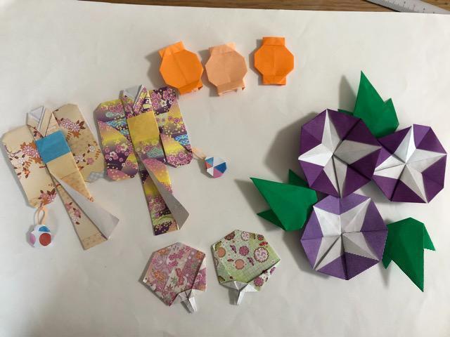 ハンドメイド 折り紙 夏祭りセット 壁面飾り 幼稚園 施設_1