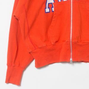 Americana アメリカーナ ジップアップパーカー ロゴ レッド 赤 綿100% コットン 日本製 ジャンパー アウター 春 秋 長袖 大人カジュアル_3