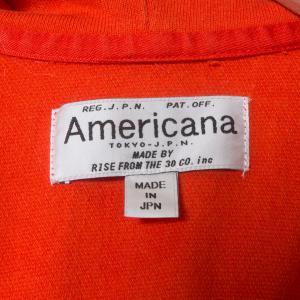 Americana アメリカーナ ジップアップパーカー ロゴ レッド 赤 綿100% コットン 日本製 ジャンパー アウター 春 秋 長袖 大人カジュアル_4