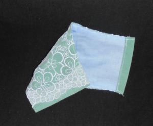 即決◆大サイズ◆白桜サクラ刺繍レース×グリーン緑下地◆ファッションマスク_3