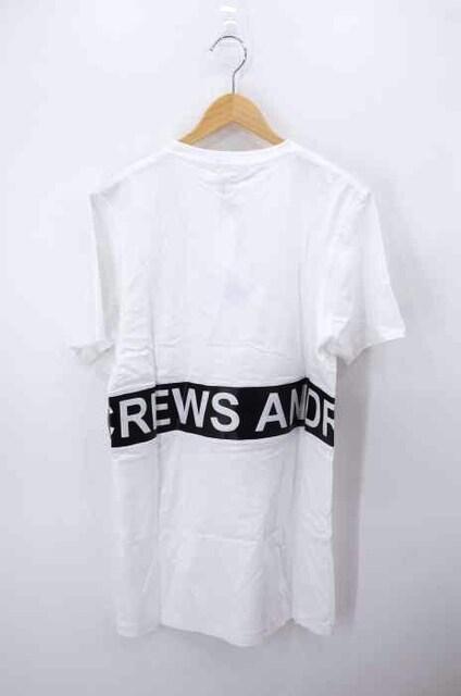ANDREA CREWS ((アンドレア クルーズ)異素材切替TシャツクルーネックTシャツ_2