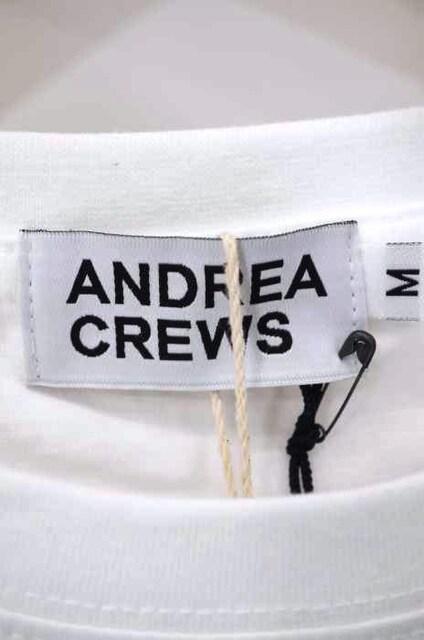 ANDREA CREWS ((アンドレア クルーズ)異素材切替TシャツクルーネックTシャツ_3