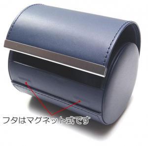 ♪M 出張 旅行 持ち運びに フェイクレザー製のネクタイケース/NV_3