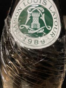 1989 シャサーニュ モンラッシェ ルイラトゥール Louis Latour Chassagne Montrachet 赤ワイン 750ml 古酒 ブルゴーニュ_2