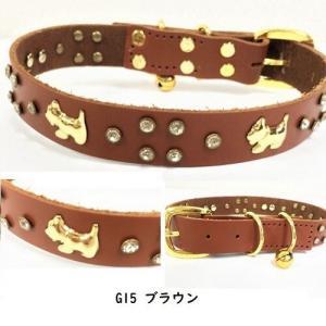 SALE20%OFF G15 G16 G20 G25 首輪 カラー リード 中型犬用 ドッグウェア 鈴 ビジュー犬服 リード・首輪 MOANA_2