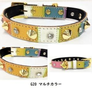 SALE20%OFF G15 G16 G20 G25 首輪 カラー リード 中型犬用 ドッグウェア 鈴 ビジュー犬服 リード・首輪 MOANA_4