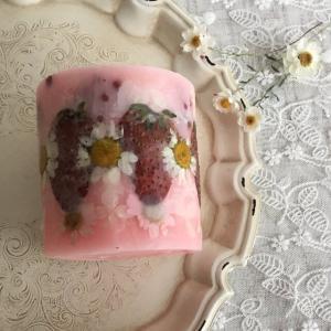 【いちごの香り】ボタニカルアロマソイキャンドル_5