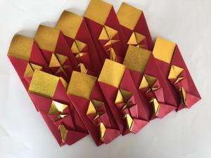 ハンドメイド メタリック折り紙 ゴールド 箸袋 10枚_1