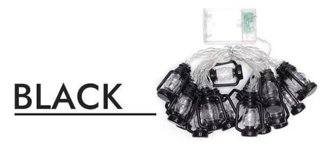 ¢M ランタン型 レトロな雰囲気 デコレーションフェスライト/BK_2