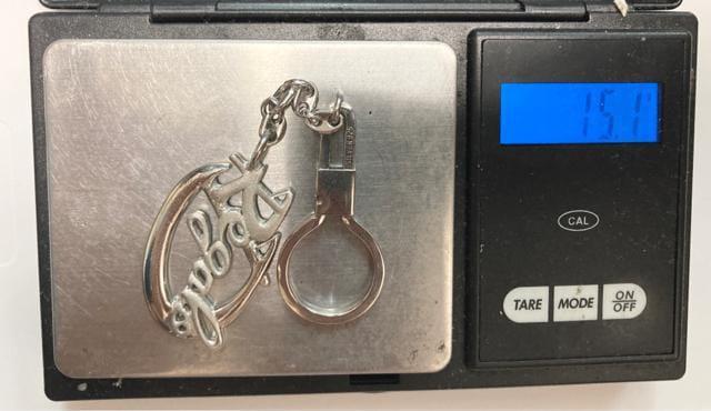 silver925 シルバー Regaroロゴ キーホルダー_6