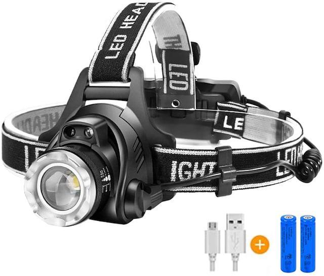 LEDヘッドライト USB 充電式 電気出力 高輝度CREE_1