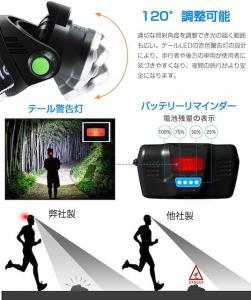 LEDヘッドライト USB 充電式 電気出力 高輝度CREE_4