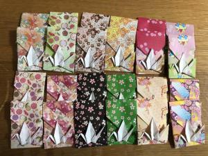 ハンドメイド 折り紙 鶴折ポチ袋 24枚_1