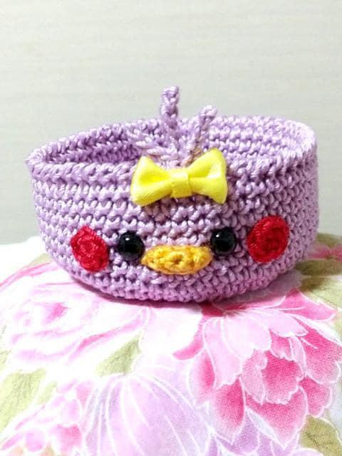 ひよこちゃん編みぐるみ小物入れ_1