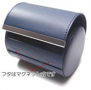 ?M 出張 旅行 持ち運びに フェイクレザー製のネクタイケース/BK_3