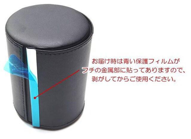 ?M 出張 旅行 持ち運びに フェイクレザー製のネクタイケース/BK_5
