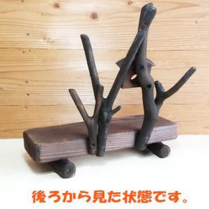 木製ベンチ 巣箱付き49 男前ラック 飾り台_5