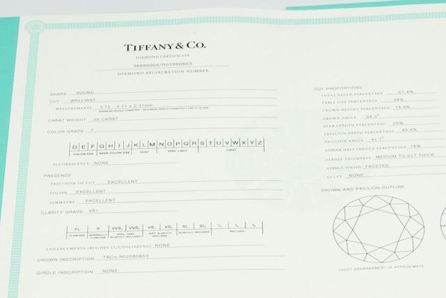 TIFFANY ティファニー F VS-1 3EX ダイヤモンド リング 6.5号_4