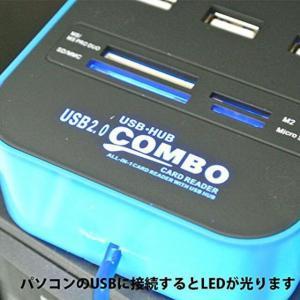 M) LED点灯 マルチ USBカードリーダー_4