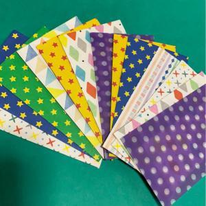 ハンドメイド 折り紙で作ったポチ袋_1