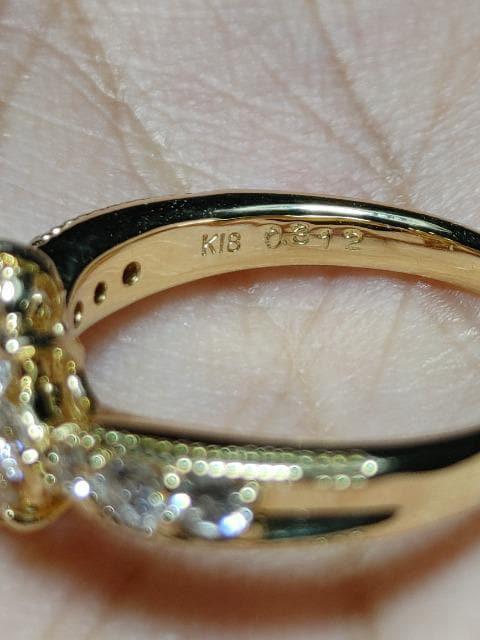 美しすぎるK18金1.032ctダイヤリング_4