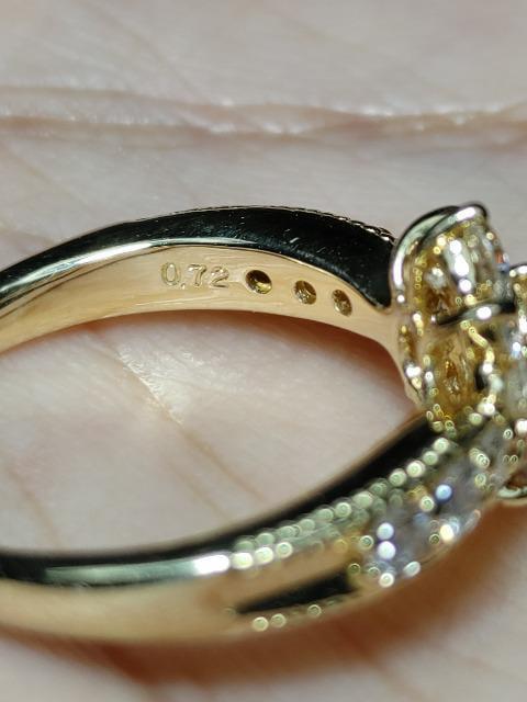 美しすぎるK18金1.032ctダイヤリング_5