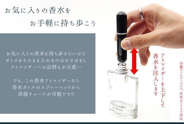 M)香水 持ち運び 携帯用 ボトル式 スプレー ブラック_2