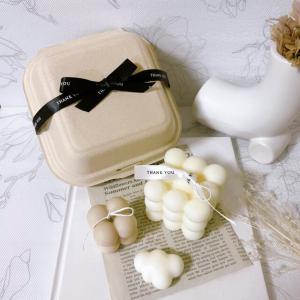 ソイキャンドルセットBOX付き+くものミニパーツ、英字ペーパープレゼント 韓国キャンドル ギフト_3