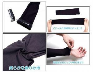 ♪M 強い日差しから腕を守る 男女兼用 吸湿 速乾 アームカバー BK/L_4