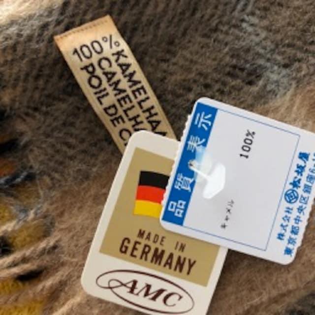 ドイツ製 キャメル100%マフラー_4