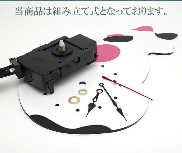 M)可愛い猫の振り子時計!黒猫_3