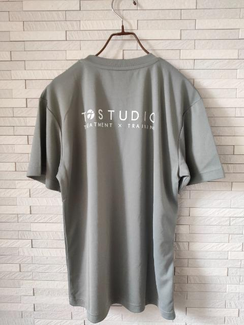 新品 オリジナル ドライ 半袖 丸首 Tシャツ メンズ グレー S_5