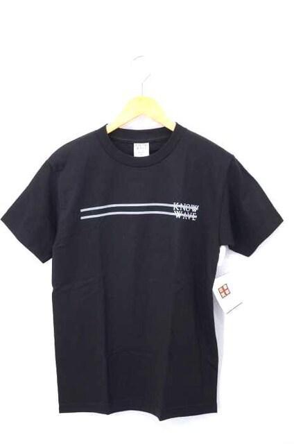 KNOW WAVE(ノーウェーブ)サイドラインロゴプリントTシャツクルーネックTシャツ_1
