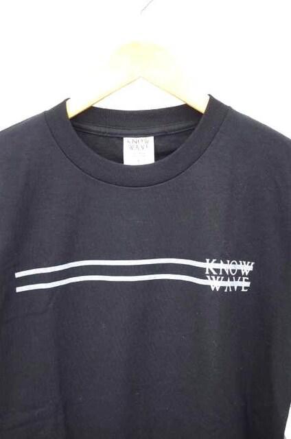 KNOW WAVE(ノーウェーブ)サイドラインロゴプリントTシャツクルーネックTシャツ_5