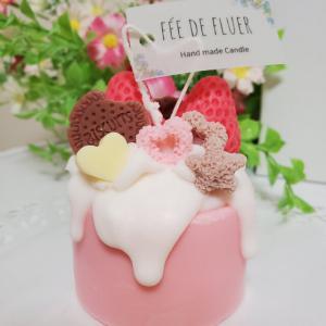 再✨とろ~りケーキキャンドル(ピンク)_1